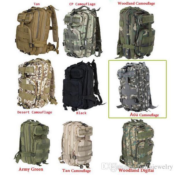 30L 3P Backpack Waterproof Outdoor Trekking Tactical Camping Military Sports Rucksacks Backpacks Classic Bag Multi Color