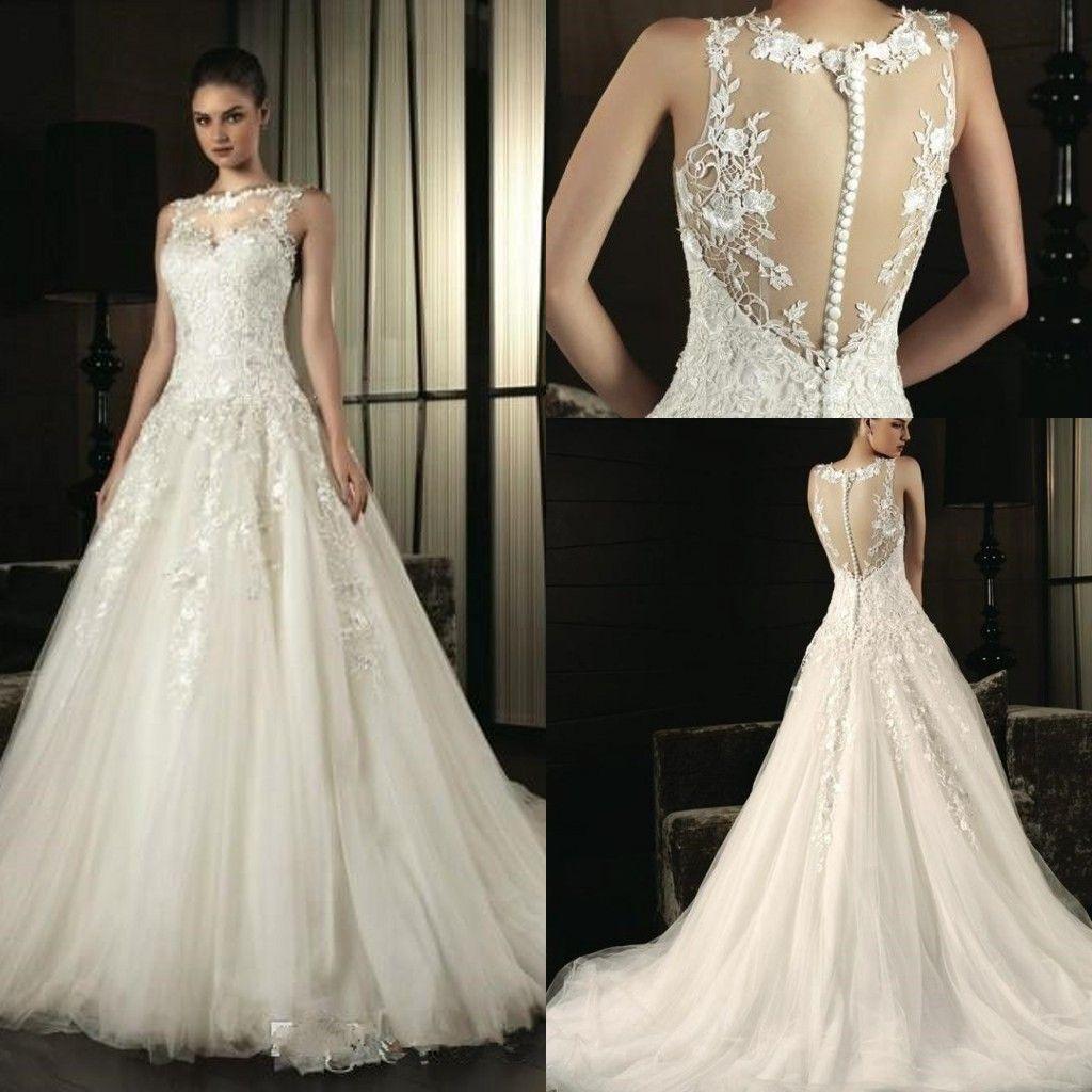Discount Designers Plunging Neckline Wedding Dresses