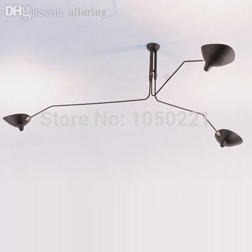 pendant light 3 heads modern ceiling lamp serge mouille ceiling lamp. Black Bedroom Furniture Sets. Home Design Ideas