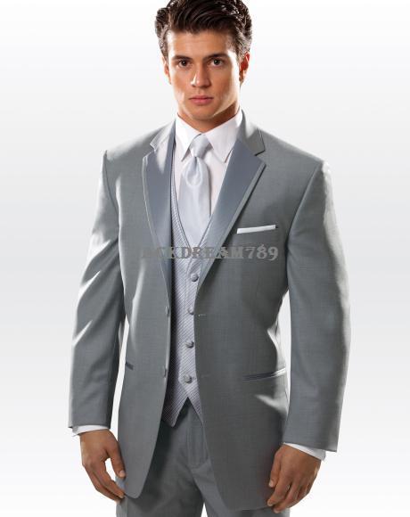 2015 Custom Made Three Pieces Wedding Groom Tuxedos Men's Dress