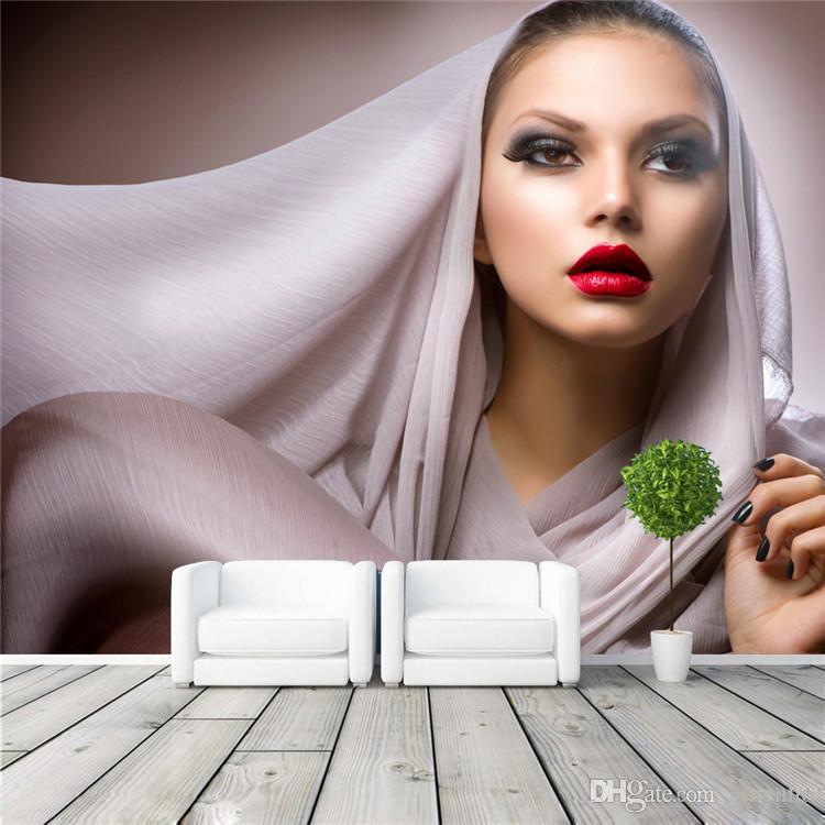 Woman Home Decorating beautiful woman photo wallpaper fashion wall mural customize