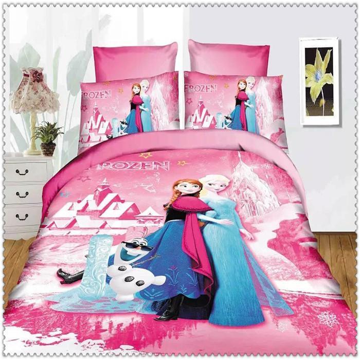 Frozen Bedding Set Blue Pink Twin/Single Size Home Textiles ...