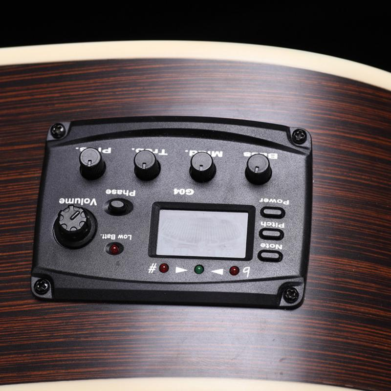 2017 3 Band Eq Equalizer Acoustic Guitar Preamp Pickup Tuner Piezo ...