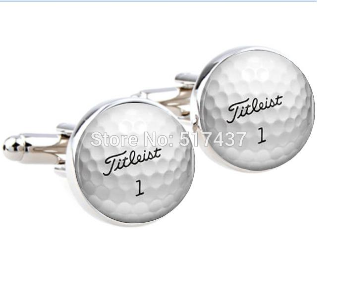 Online cheap wedding cufflinks for mens golf ball for Golf buflings
