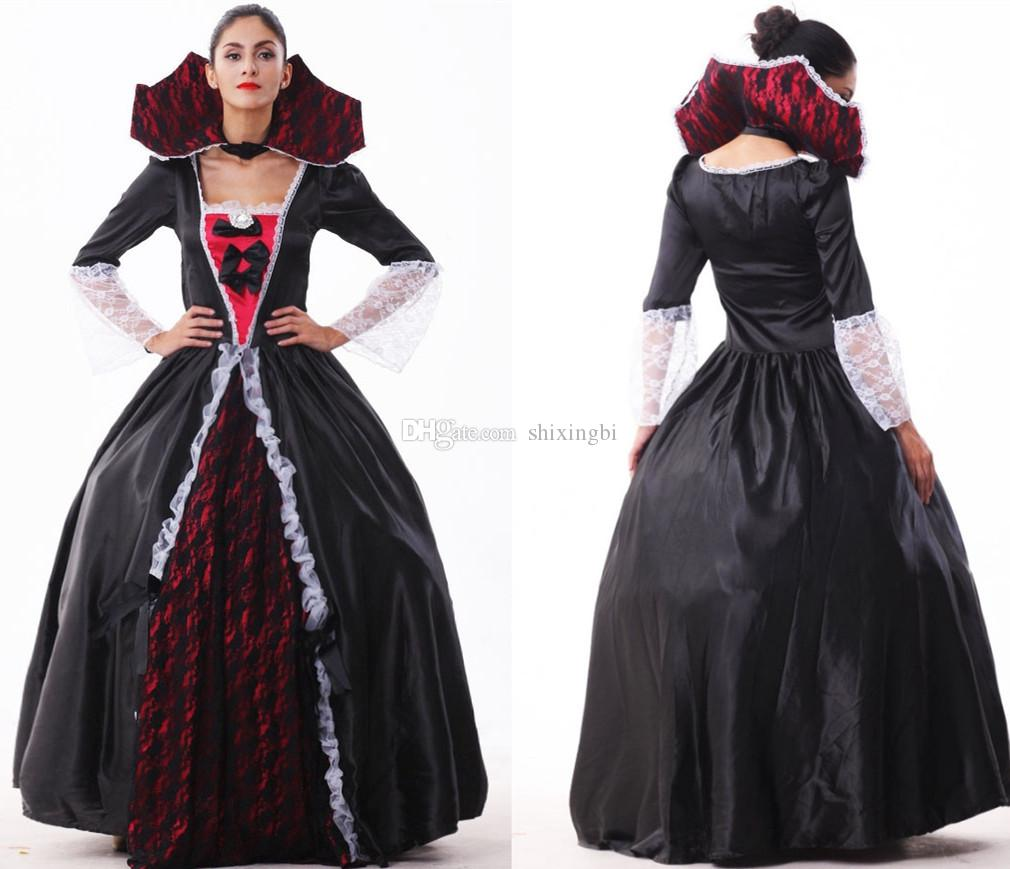 2015 New Fashion Medieval Renaissance Dress Halloween Queen Witch ...
