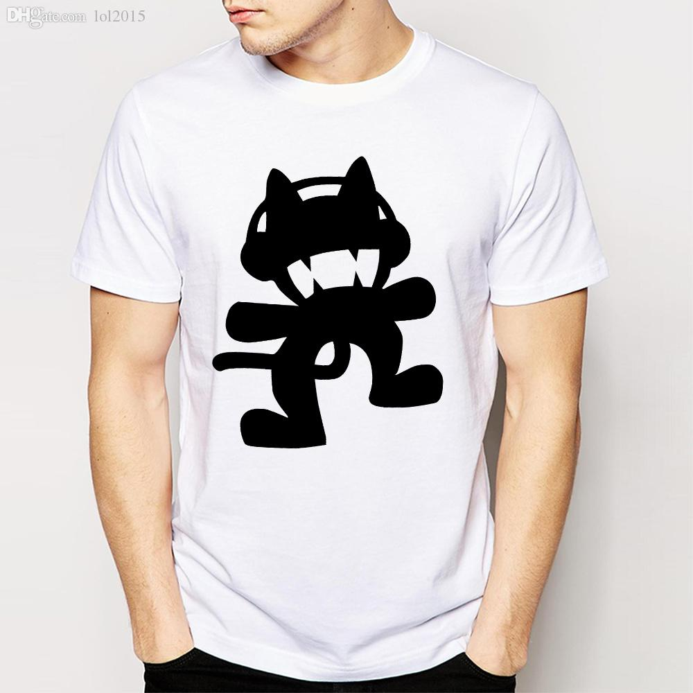 Wholesale new summer movie cartoon cool tattoo monstercat for Tattoo t shirts wholesale