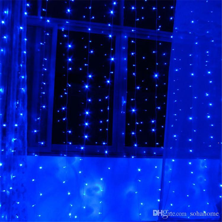 String Lights Backdrop : Backdrop Led Curtain Light String Xmas 3m * 1.5m 240 Christmas Wedding Party Holiday Decoration ...