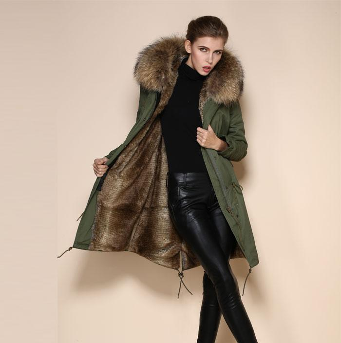 Womens Parka Jacket With Fur Hood - JacketIn
