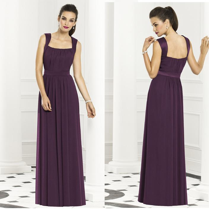 Grape under 150 bridesmaid dresses square floor length for Wedding dresses under 150 dollars
