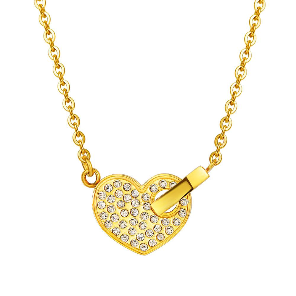 wholesale cz heart pendant gold heart necklace with. Black Bedroom Furniture Sets. Home Design Ideas