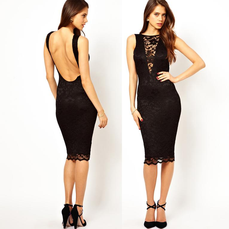 Lace Dress Sexy Bodycon Pencil
