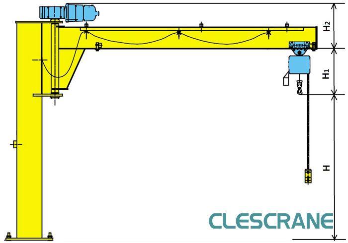 Jib Crane Licence : Cjz series pillar mounted jib crane floor
