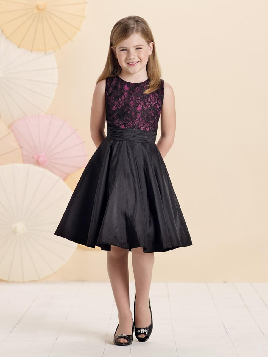2015 Elegant Pretty Little Girl Party Dress Jewel Sleeveless Lace ...