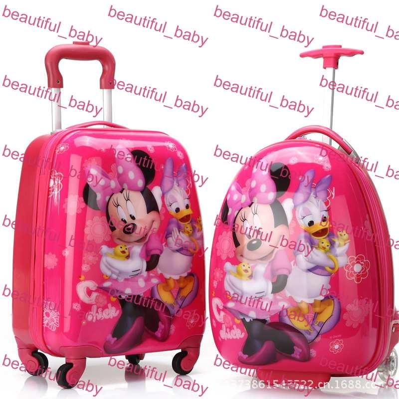 Authentic Cute Cartoon Travel Bags 16 Inch Wheels Children Pull ...