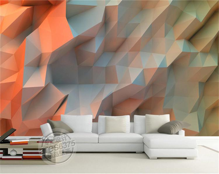 3d creative orange space wallpaper bedroom unique design for Interesting wallpaper for walls