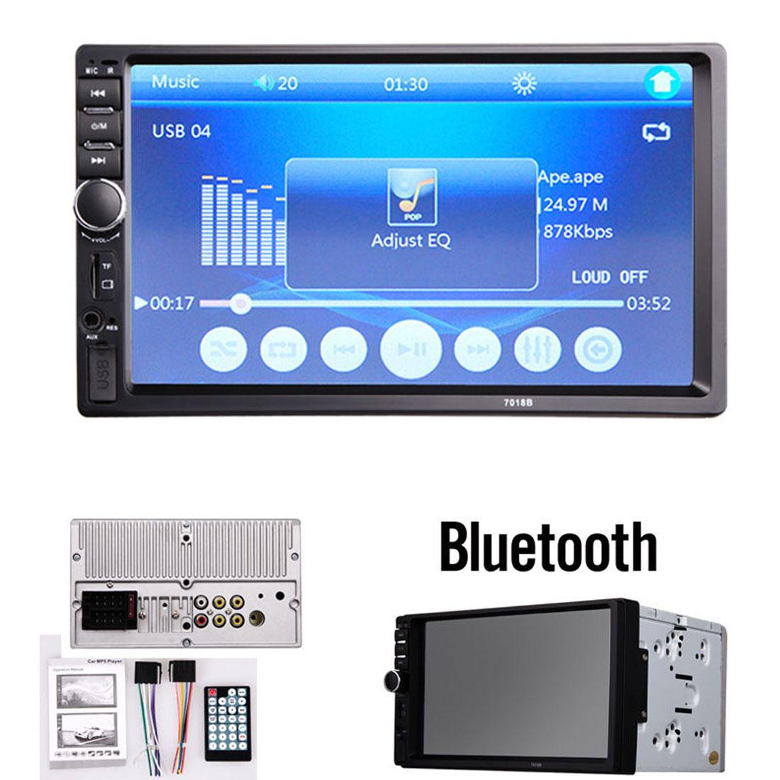 7 Inch Car Stereo Player LCD HD Car In-Dash Touch Screen Bluetooth FM MP3 MP5 Radio with Wireless Remote Control CMO_282