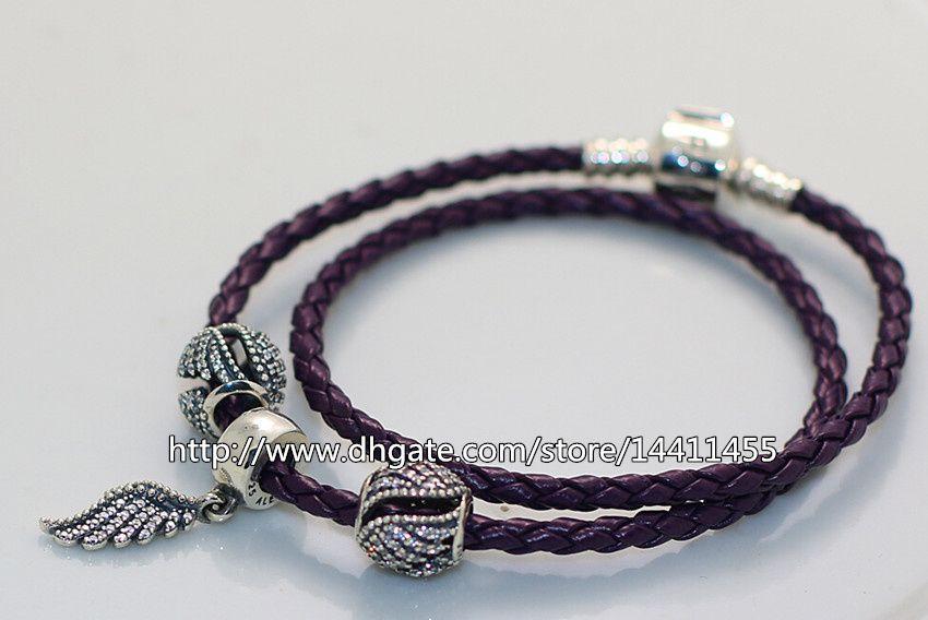 Leather Pandora Style Bracelet