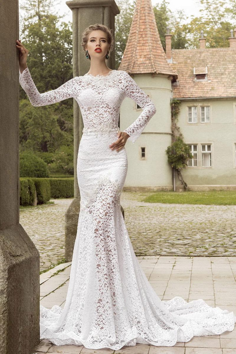fit lace wedding dresses
