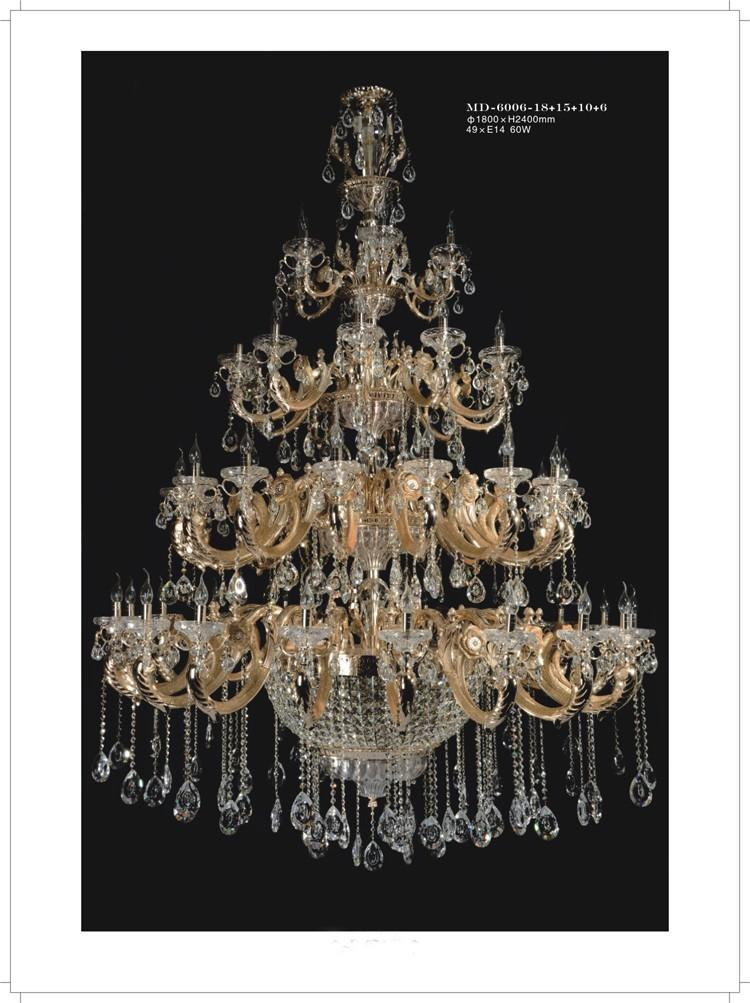 Large Antique Chandelier Contemporary Hotel Project Chandelier European  Style Luxury Crystal Chandeliers Candle Chandelier Light Hotel Lobby Candle  Living ... - Large Antique Chandelier Contemporary Hotel Project Chandelier
