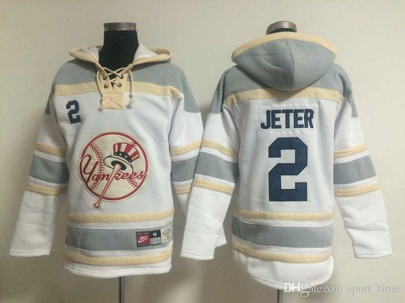 2017 Yankees 2 Jeter Baseball Jackets Cheap Baseball Hoodies New