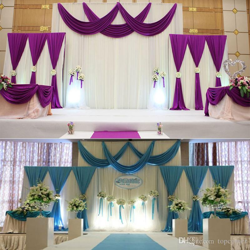 Wedding Stage Satin Curtain Backdrop Fabric Party ...