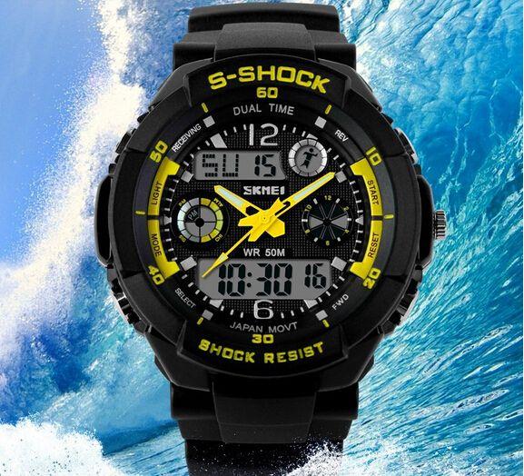 10pcs Men's Quartz Digital Watch Men Sports Watches Relogio origingal SKMEI S Shock Relojes LED Military Waterproof Wristwatches