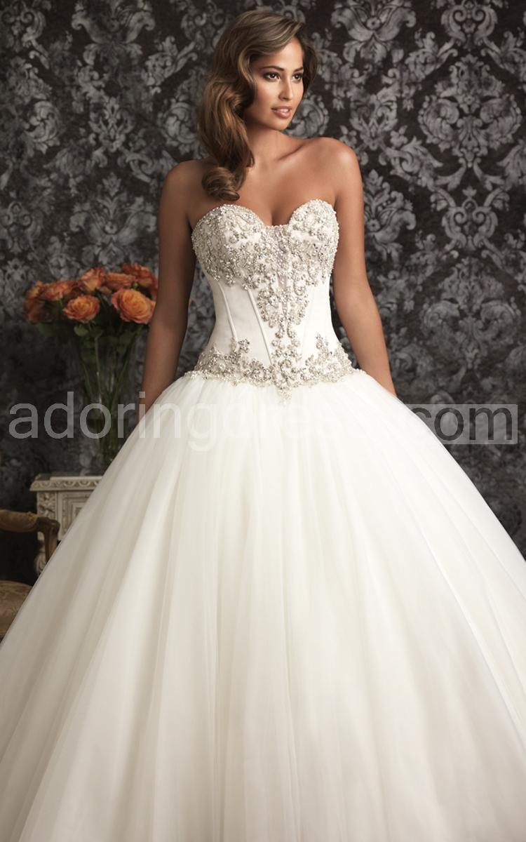 Cheap 2015 Ball Gowns Wedding Dresses Sweetheart Bling Pearls Backless Sleeveless Corset Bridal