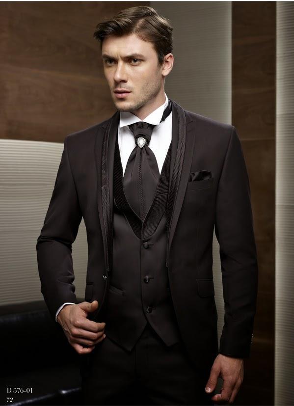 Classic Black Wedding Suits For Men Peaked Lapel Men Tuxedos Slim ...