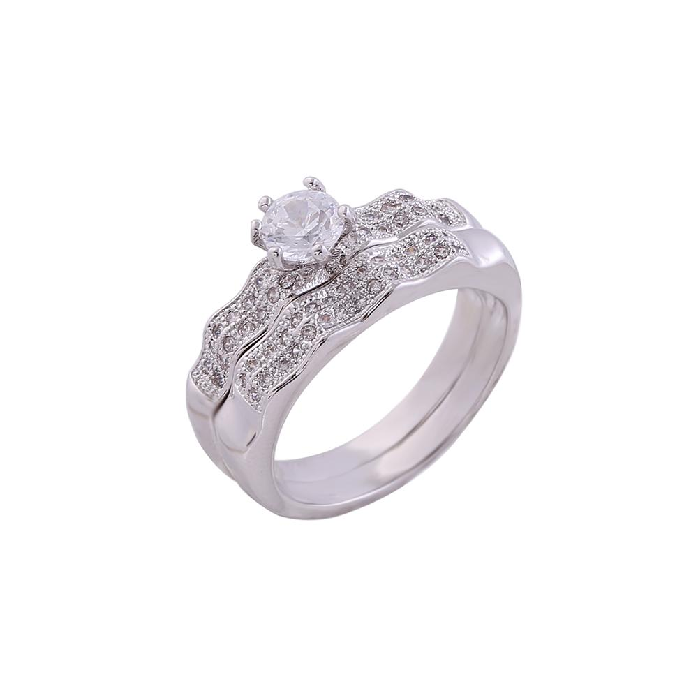 Cubic Zirconia Wedding Rings for Couples Gemstone Rings Unique ...