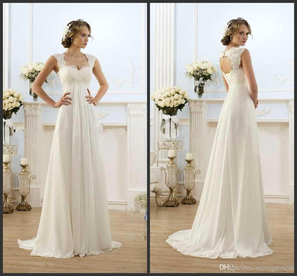 2016 Elegant Sweetheart Empire Wedding Dress Plus Size