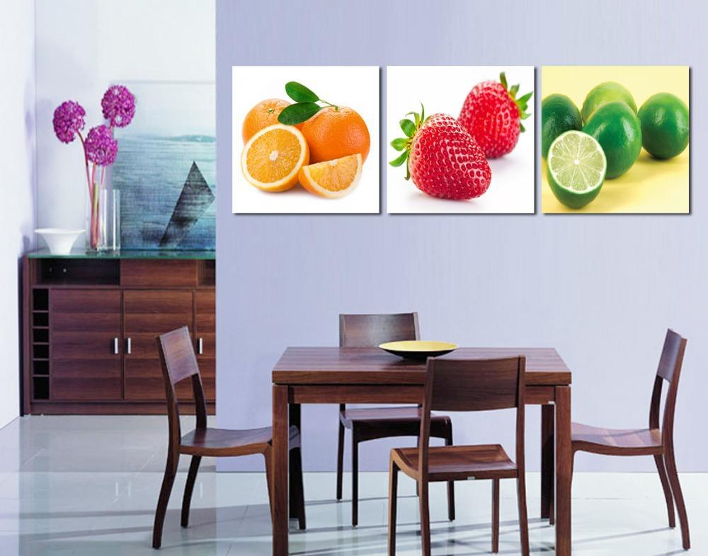 canvas art modern wall decor dining room decoration fruit canvas