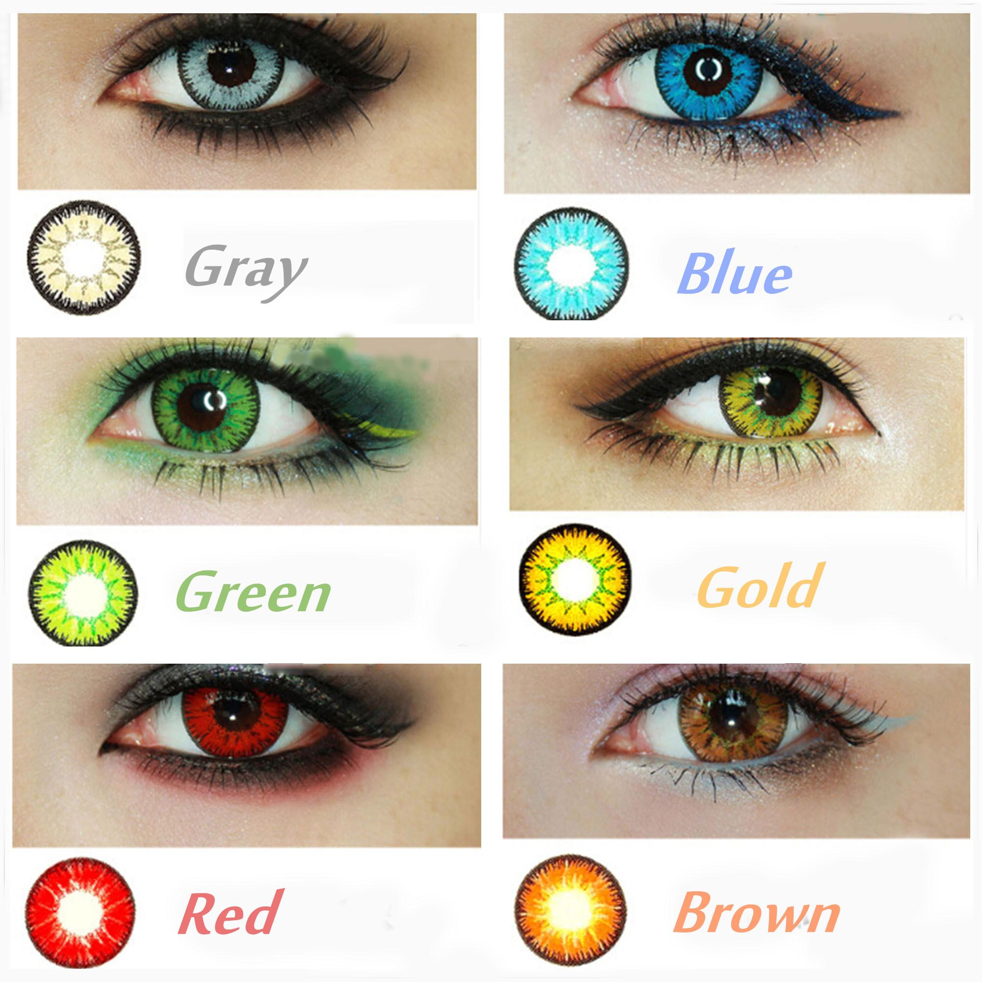 Crazy Halloween Contacts coloured contact lenses Wholesale Candyvision Colors In Stock Crazy Lenses Colorful Cosmetic Contact Lenses Eye Color Blood Red Eye