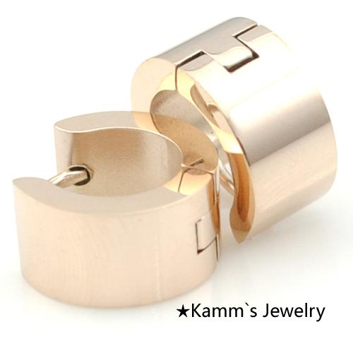 Cheap Fashion Online Hip Hop Earrings Stores Fashion Rose Gold Plated Mens