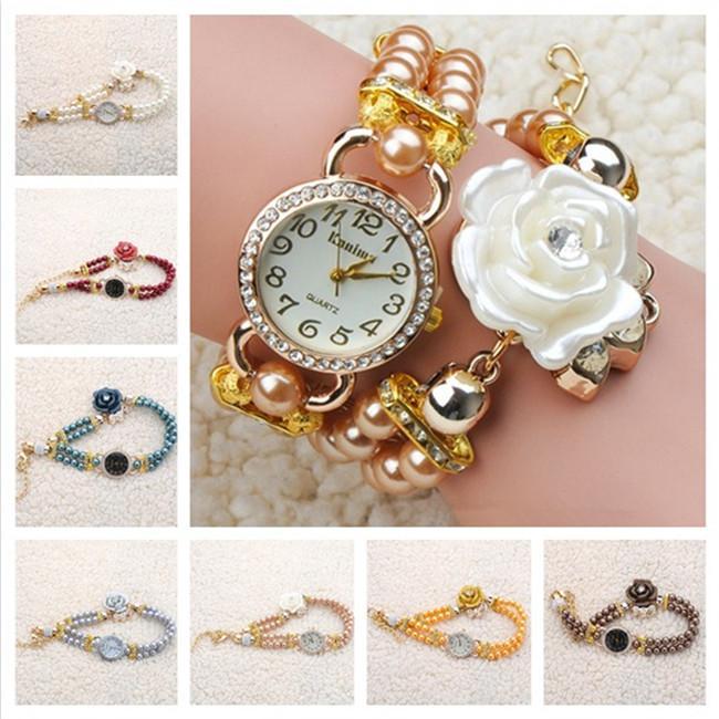 Pearl Bracelet Watches Ladies Watch Luxury Pearl