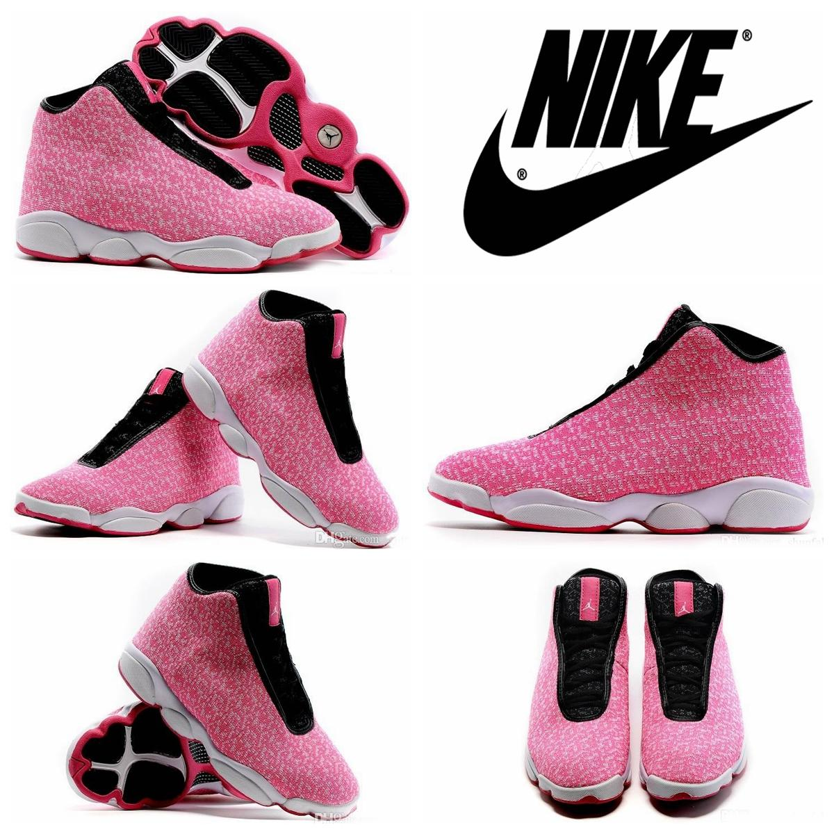 Air Jordan Horizon AJ13 Gs Pink Valentine\\u0026#39;s Day Womens Basketball