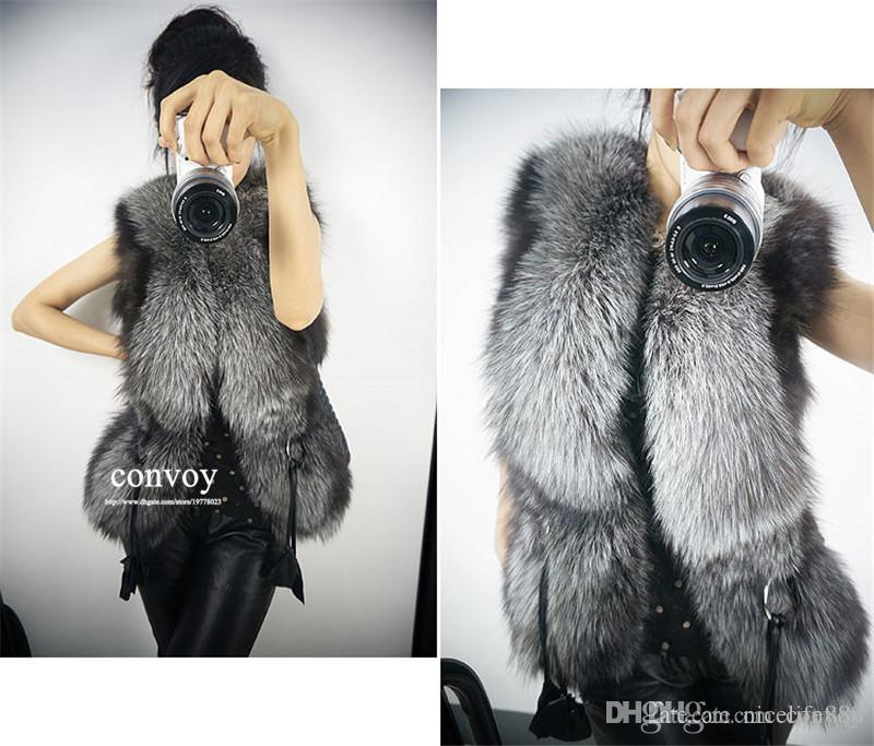 2017 Fashion Womens Girls Faux Fur Coat Vest Outerwear Coat Winter