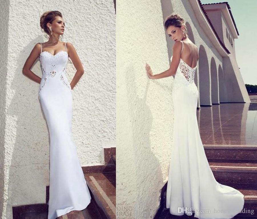 Julie vino 2015 summer beach wedding dresses sheath white for Www dhgate com wedding dresses