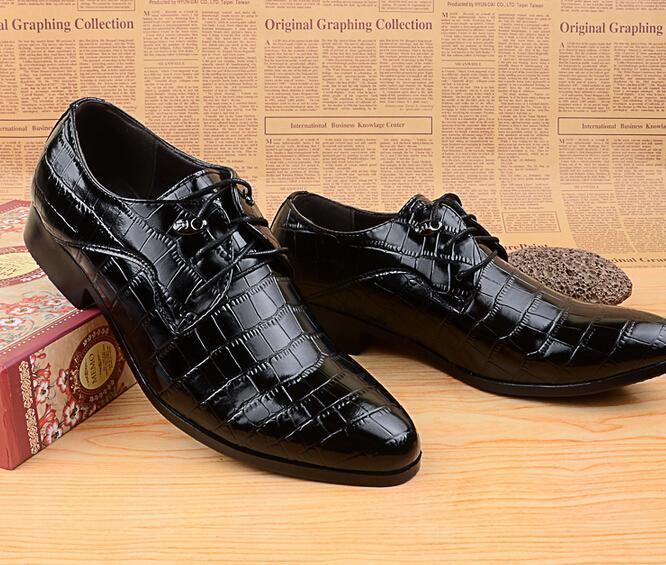 San New Shiny Men Crocodile Oxfords Shoes Fashion Men Casual Shoes ...