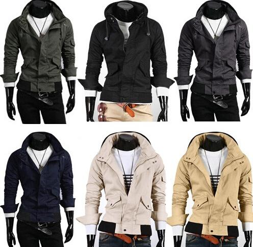 Winter New Style Men Jackets Fashion Sim More Pockets Leisure ...
