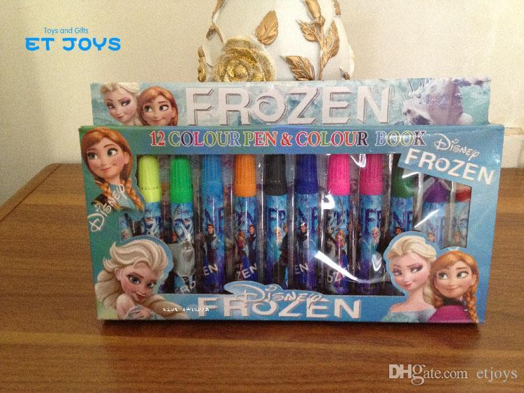 2017 Frozen Anna Elsa Sticker Coloring Book Painting Book