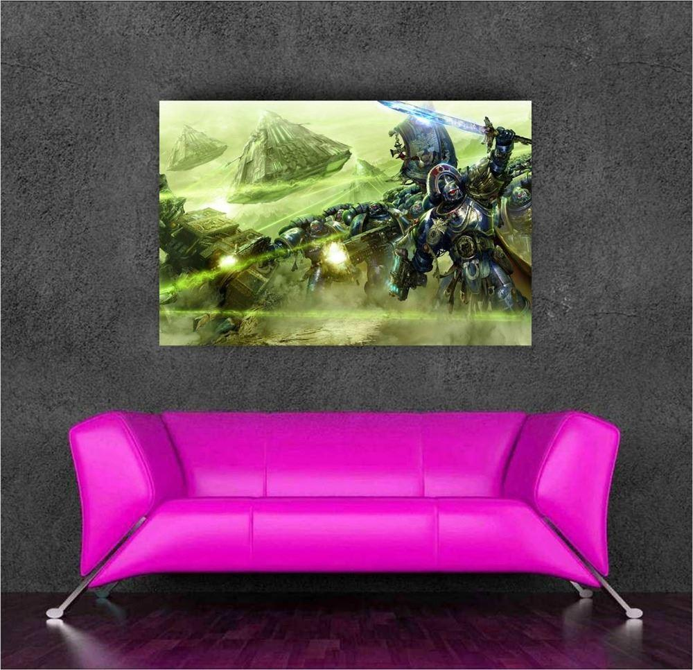 Warhammer 40k wall sticker stickers poster decor 80x50cm for Decor 40k