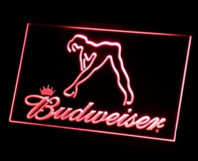 B-02 Budweiser Exotic Dancer Stripper Bar Beer LED Neon Light Sign