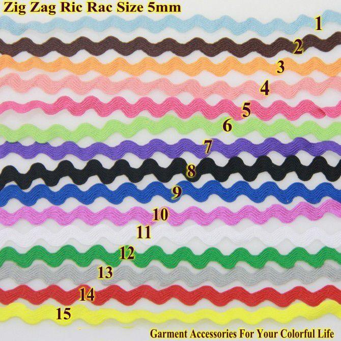 Zig Zag Trims Ric Rac Ribbon Tape ,Zigzag Width 5-6mm,25meters/roll, DIY Accessories for Decorateing Garments Sew Material Handmade Item