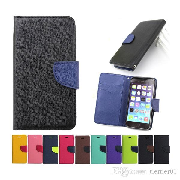 Wholesale iPhone 6 case wit high quality Mix Colors Stand Wallet Leather Flip Case for Iphone 6/6s