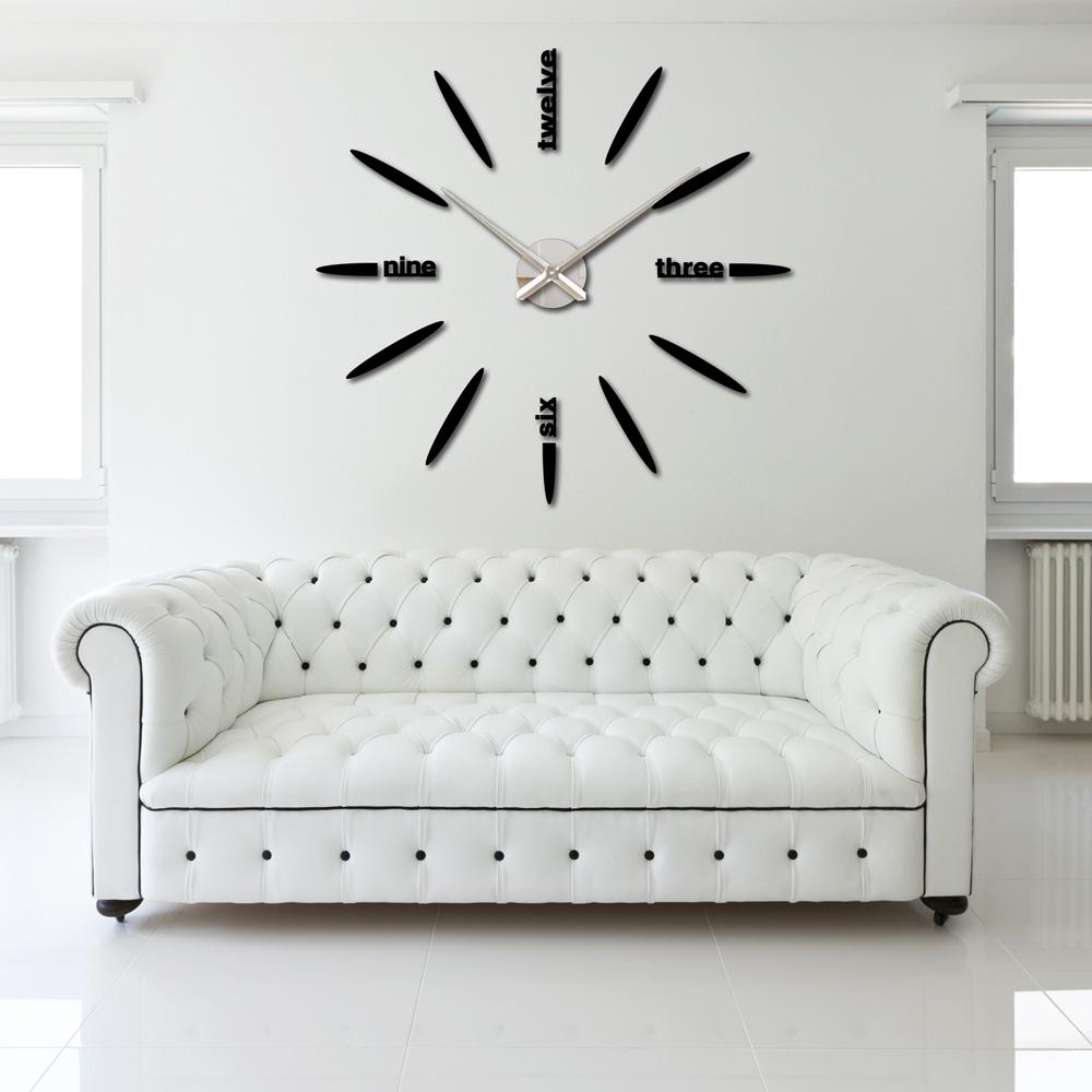 Diy large watch wall clock decor modern design creative for Plaque decorative murale