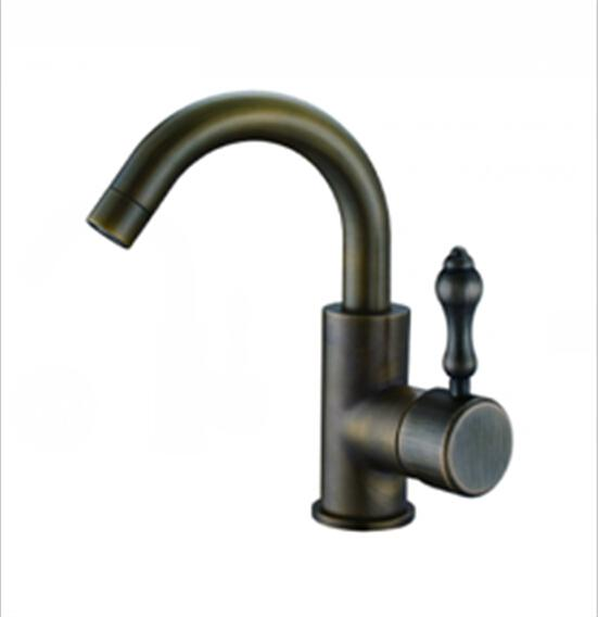 Water Tap Antique Copper Kitchen Faucet Cold And Hot Two Way ...