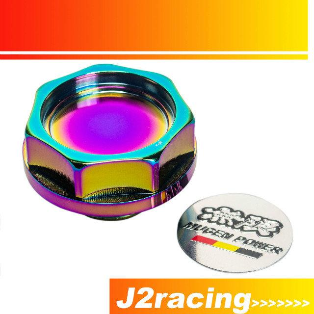 J2 RACING STORE-NEO CHROME MUGEN POWER EMBLEM TWIST SUR MOTEUR OIL FILLER CAP BA