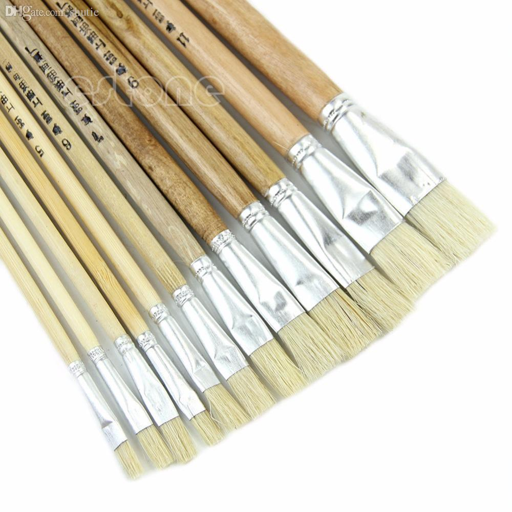 Online cheap wholesale new 12 paint brush set for oil for Wholesale acrylic craft paint
