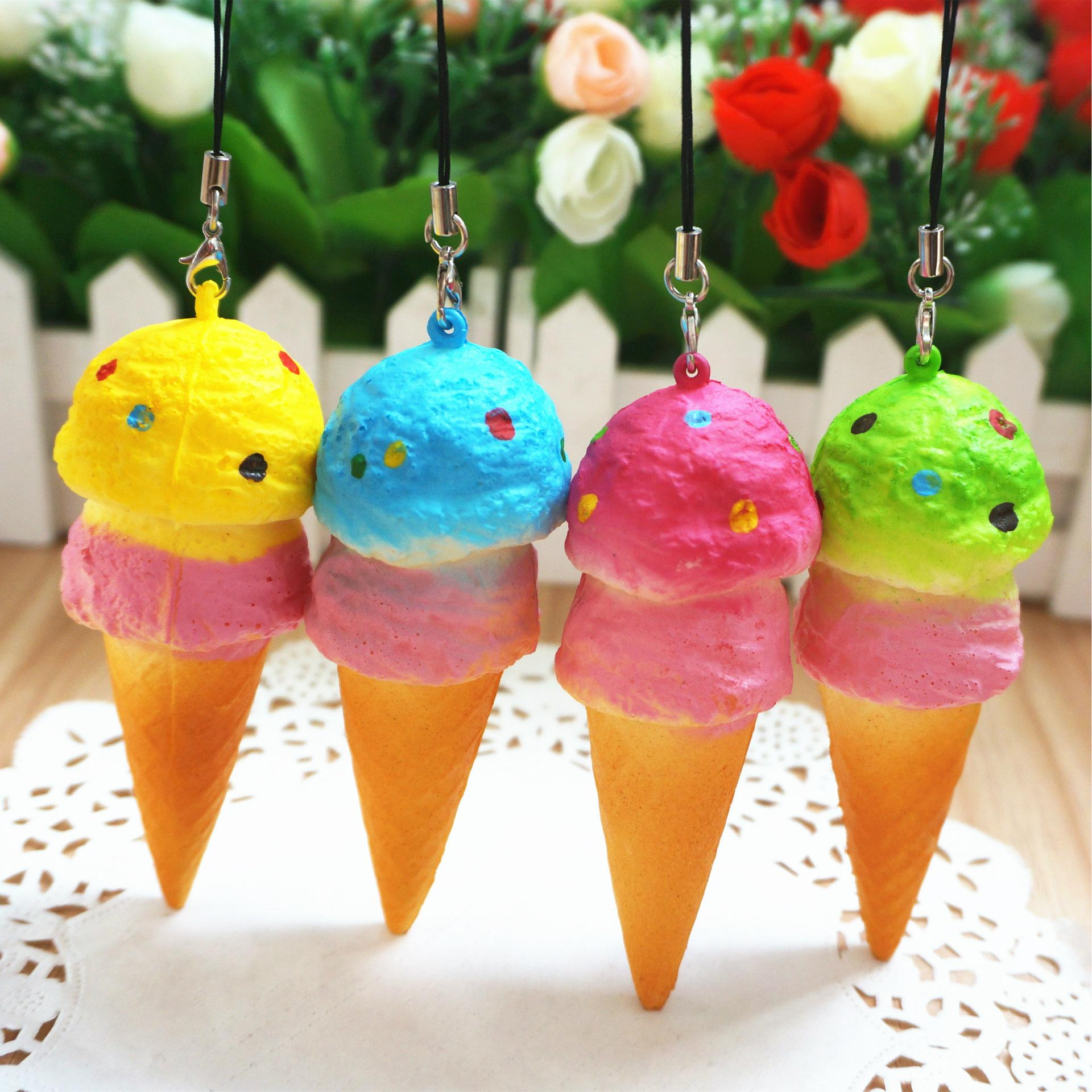 Squishy Order : Online Cheap 2016 New Kawaii Squishies Bag Charm Wholesale Rare Squishy Ice Cream Cell Phone ...
