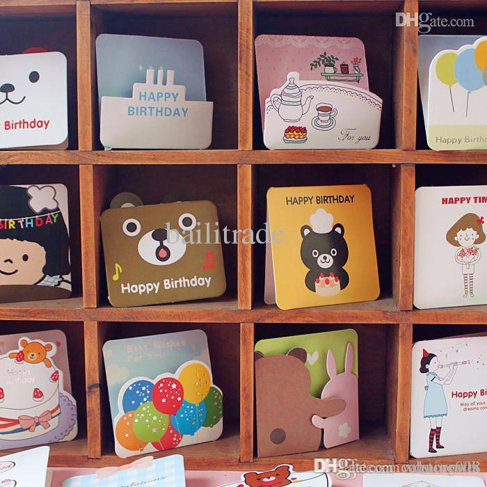 creative card small greeting card with animal cartoon children's, Greeting card